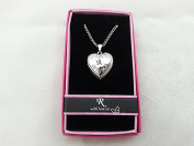 "Hallmark Love Locket Necklace with 41cm - 46cm Adjustable Chain - Letter ""R"""