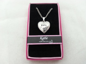 Hallmark Love Locket Necklace with 41cm - 46cm Adjustable Chain - Katie