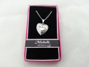 Hallmark Love Locket Necklace with 41cm - 46cm Adjustable Chain - Michelle
