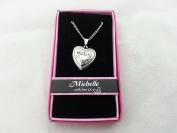 Hallmark Love Locket Necklace with 41cm - 46cm Adjustable Chain - Michelle