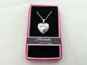 Hallmark Love Locket Necklace with 41cm - 46cm Adjustable Chain - Miranda