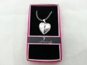 "Hallmark Love Locket Necklace with 41cm - 46cm Adjustable Chain - Letter ""J"""