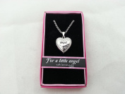 Hallmark Love Locket Necklace with 41cm - 46cm Adjustable Chain - Angel