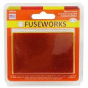 Fuseworks Warm Colours 90 Coe Fusible Glass Sheets