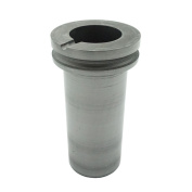 1 KG Pure Graphite Crucible with Grooved Flange for Smelting Casting Melt Melting Gold Silver Copper Scrap