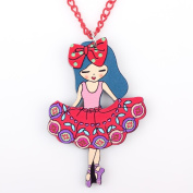 Various Designs of Cute Girls Acrylic Chain with Pendant for Birthdays/Christmas