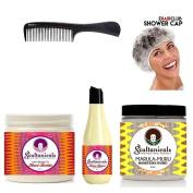 Soultanicals Can't Believe It's Knot Butter + Knot Sauce Coil Detangler + Marula-Muru Moisture Guru + Shower Cap + Comb