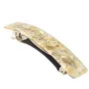 TS Tokyo Colour Rectangle Automatic Barrette Tortoise Shell For Thick Hair Handmade Materials