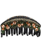 Fancyin New arrival Luxury Austrian Crystal 11cm colourful rhinestones hair claw clip for women
