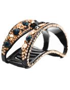Fancyin New arrival Luxury 9.1cm Austrian Crystal colourful rhinestones hair claw clip for women