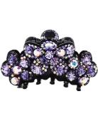 Fancyin New arrival Luxury Purple Austrian Crystal colourful rhinestones hair claw clip for women