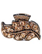 Fancyin New arrival Luxury Champagne colour Austrian Crystal colourful rhinestones hair claw clip for women