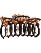 Fancyin New arrival Luxury Austrian Crystal big size colourful rhinestones butterfly hair claw clip for women