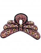 Fancyin New arrival Luxury Austrian Crystal colourful rhinestones butterfly hair claw clip for women