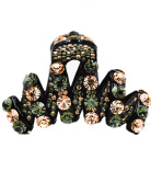 Fancyin New arrival Luxury Champagne Green colorAustrian Crystal colourful rhinestones hair claw clip for women