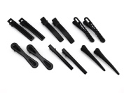 yueton Pack of 12 Black Matte Barrettes Bobby Pin Alligator Clip Hair Clips Bride Head-wear Edge Clip Clamps for Ladies Girls Hair Bows
