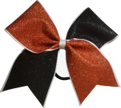 Sparkle Bows Cheer Orange and Black Glitter Cheer Bow