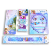 Disney Frozen Hair Clip, Necklace, Hair Ties, Hair Band, and Slap Bracelet Fun Package …