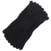 Vintage Winter Women Girls Sequin Knot Knitting Elastic Turban Headband Hair Accessories