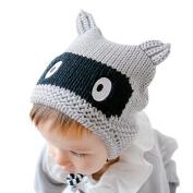 FEITONG Baby Boy Girl Cap Knitted Crochet Ear Print Beanie Winter Warm Cap