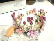 Violet Gold Crown Tiara Headband set : S18