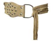 Suede Light Brown Tassel Loop Tie Belt To Fit Size 10-14