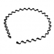 Blazers18 Skque Wavy Metal Sports Men's Women's Headband Hair Hoop Band -Black colour