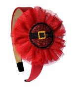Santa Belt Glitter Christmas Headband By Funny Girl Designs