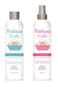 Bathtime Kids Natural Shampoo & Leave-In Detangler Spray Set - No Artificial Fragrances, Hypoallergenic - 250ml & 240ml
