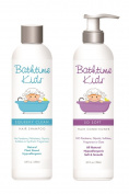 Bathtime Kids Natural Shampoo & Conditioner Set - No Artificial Fragrances, Hypoallergenic – 250ml