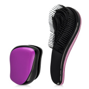 Uarter Detangling Brush Professional Styling Hair Brush Mini Pocket Wet and Dry Detangler Comb for Knotted, Wavy, Curly, Matted Hair