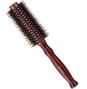 Minalo 100% Boar Bristles Hair Brush With Wood Handle, Professional Round Comb for Women 5.3cm
