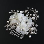 ROSENICE Bridal Hair Combs Hair Slides Bridal Pearls Decor Flower Hair Accessories
