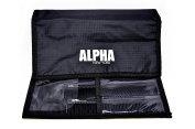 9Pc Hairdressing Hair Stylist Salon Black Brush Combs Kit Set With Wallet by Alpha New York