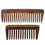Natural Rosewood Comb, Set of 2 for Hair Care
