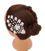 iHome Fusion Bridal Hair Comb Crystal Pearl Peacock Tail Leaf Heart Shape Flower Hairpiece Hair Pin Wedding Accessories