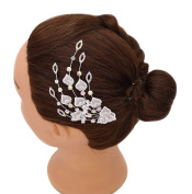 iHome Fusion Bridal Hair Comb Crystal Peacock Tail Leaf Heart Shape Flower Hairpiece Hair Pin Wedding Accessories