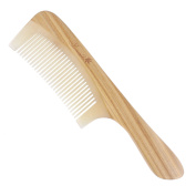 Breezelike No Static Sheep Horn Comb with Sandalwood Handle