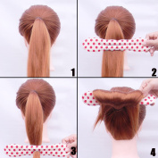 Shells 2PCS New Version Cloth Magic Clip French Twist Hairstyle Donut Bun Former Maker Hairstyle Must-haves Tool