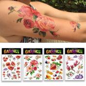 Halloween 4 sheet Dizao Tattoo. Garden. Temporary Metallic Tattoos