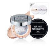 VDL 2016 NEWYORK FASHION WEEK Collection Special Limited Edtion - Beauty Metal Cushion Foundation Long Wear(refill) A205 & Silver Case with 2 Puffs