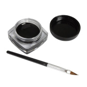 Gillberry Mini Eyeliner Gel Cream With Brush Makeup Cosmetic Black Waterproof Eye Liner
