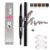 Genenic Waterproof Eyebrow Pencil Makeup Cosmetic Tool With Automatic Eye Brows Brush Long-lasting+ 1SET Free Eyebrow DIY Tools
