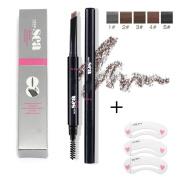 Genenic Waterproof Eyebrow Pencil Makeup Cosmetic Tool With Automatic Eye Brows Brush Long-lasting+ 1SET Free Eyebrow DIY Tools