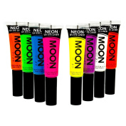 Moon Glow - Blacklight Neon Eye Liner 10ml Set of 8 colours – Glows brightly under Blacklights / UV Lighting!