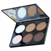 Pressed Powder Palette - MAYCHEER Professional 6 Colour Pressed Powder Palette Nude Makeup Contour Cosmetic 1#
