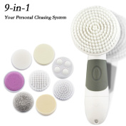 Waterproof Skin Cleansing Brush System by Grinigh® Variable Usage 9 Brushes with Portable Bag , Deep Cleansing,Exfoliator For Daily Skin Care