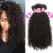 Meetu Virgin Brazilian Curly Hair 3 Bundles 10 12 36cm 7A Unprocessed Human Hair Weave Extensions Weft Afro Human Kinkys Curly Natural Black Hair