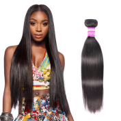 8a Hair Bundles of Indian Hair Straight Unprocessed Virgin Hair 41cm Real Human Hair Natural Black 100g