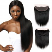 ALOT Hair 7a Grade Human Hair Straight 3 Bundles Brazilian Hair with Lace Frontal Closure 13×4 Unprocessed Virgin Hair 18 20 20 + 16
